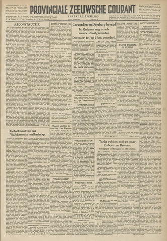 Provinciale Zeeuwse Courant 1945-04-07