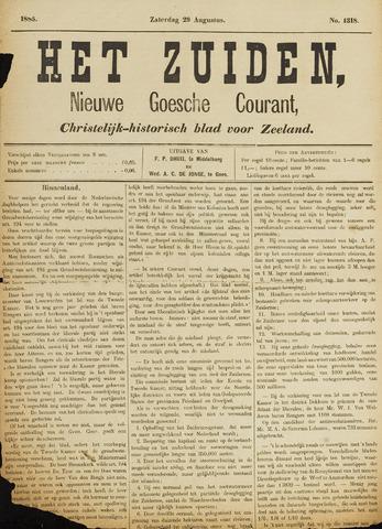 Het Zuiden, Christelijk-historisch blad 1885-08-29