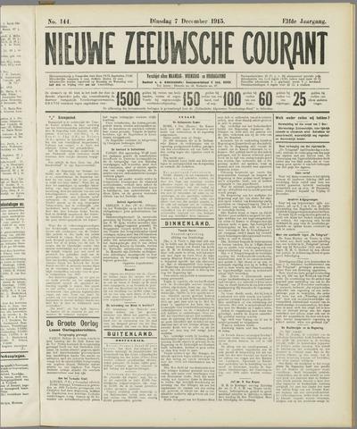 Nieuwe Zeeuwsche Courant 1915-12-07