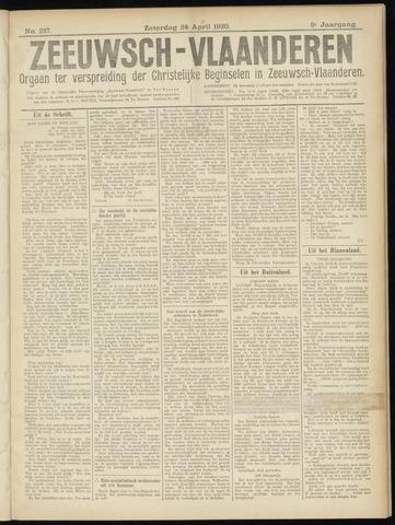 Luctor et Emergo. Antirevolutionair nieuws- en advertentieblad voor Zeeland / Zeeuwsch-Vlaanderen. Orgaan ter verspreiding van de christelijke beginselen in Zeeuwsch-Vlaanderen 1920-04-24