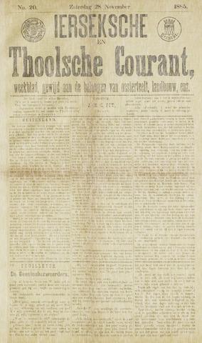 Ierseksche en Thoolsche Courant 1885-11-28
