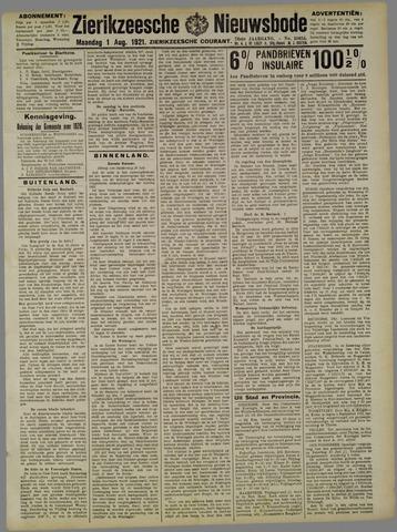 Zierikzeesche Nieuwsbode 1921-08-01
