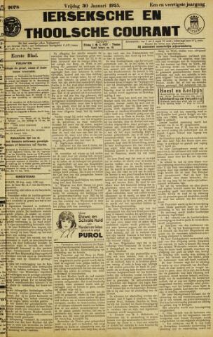 Ierseksche en Thoolsche Courant 1925-01-30