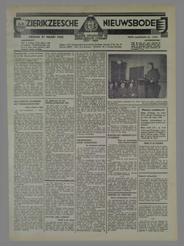 Zierikzeesche Nieuwsbode 1942-03-27