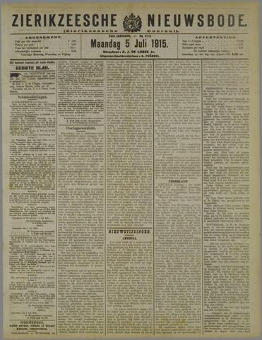 Zierikzeesche Nieuwsbode 1915-07-05