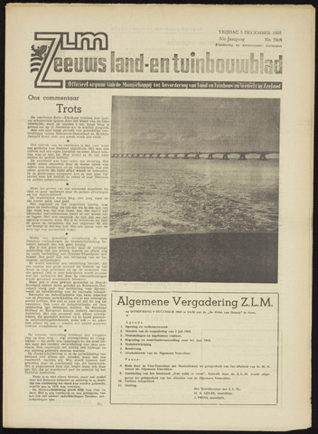 Zeeuwsch landbouwblad ... ZLM land- en tuinbouwblad 1965-12-03