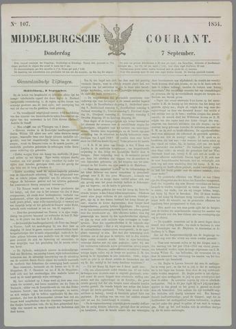 Middelburgsche Courant 1854-09-07