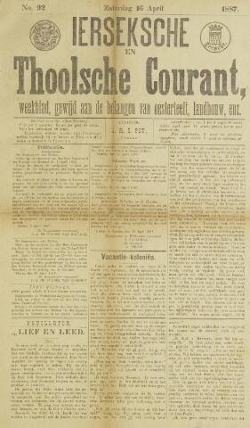 Ierseksche en Thoolsche Courant 1887-04-16