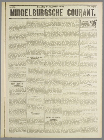 Middelburgsche Courant 1927-08-02