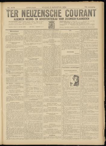 Ter Neuzensche Courant. Algemeen Nieuws- en Advertentieblad voor Zeeuwsch-Vlaanderen / Neuzensche Courant ... (idem) / (Algemeen) nieuws en advertentieblad voor Zeeuwsch-Vlaanderen 1934-08-03