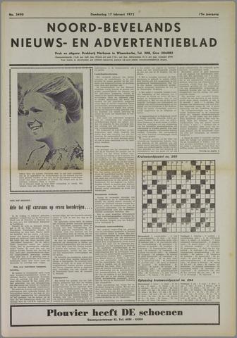 Noord-Bevelands Nieuws- en advertentieblad 1972-02-17