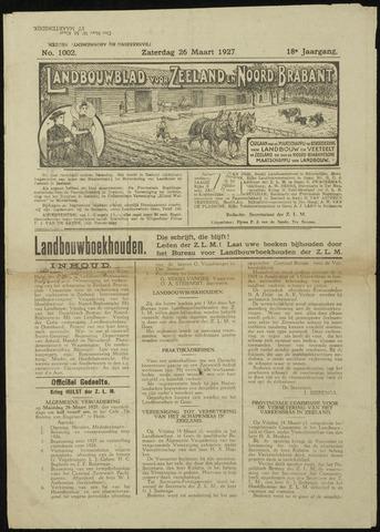 Zeeuwsch landbouwblad ... ZLM land- en tuinbouwblad 1927