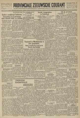 Provinciale Zeeuwse Courant 1946-02-20