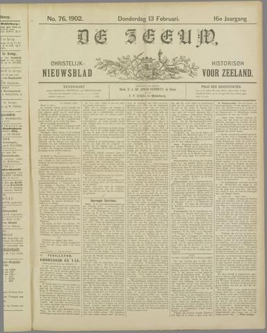 De Zeeuw. Christelijk-historisch nieuwsblad voor Zeeland 1902-02-13