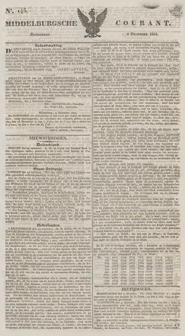 Middelburgsche Courant 1834-12-04