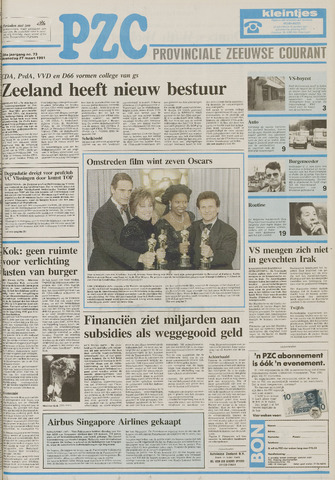 Provinciale Zeeuwse Courant 1991-03-27