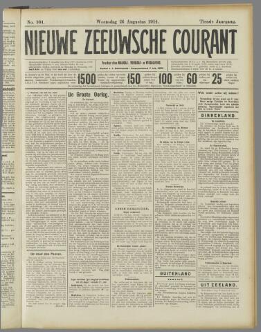 Nieuwe Zeeuwsche Courant 1914-08-26