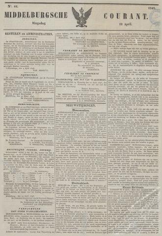 Middelburgsche Courant 1848