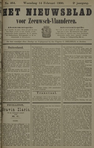 Nieuwsblad voor Zeeuwsch-Vlaanderen 1900-02-14