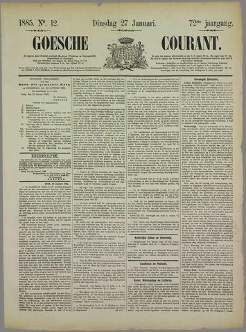 Goessche Courant 1885-01-27