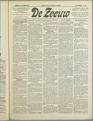 De Zeeuw. Christelijk-historisch nieuwsblad voor Zeeland 1934-09-26