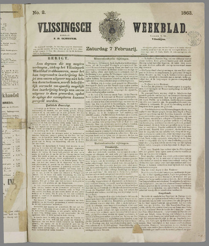 Vlissings Weekblad 1863-02-07