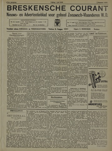 Breskensche Courant 1938-07-01
