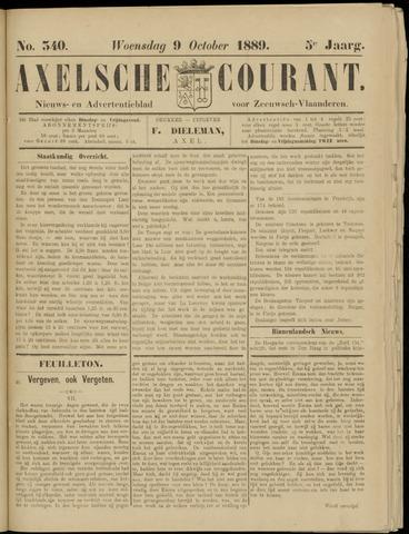 Axelsche Courant 1889-10-09