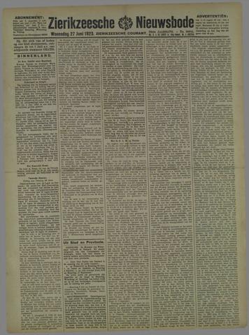Zierikzeesche Nieuwsbode 1923-06-27
