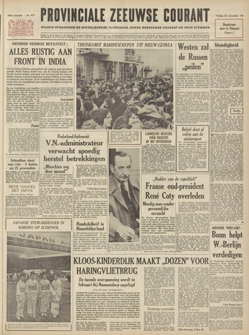 Provinciale Zeeuwse Courant 1962-11-23