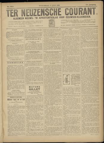 Ter Neuzensche Courant. Algemeen Nieuws- en Advertentieblad voor Zeeuwsch-Vlaanderen / Neuzensche Courant ... (idem) / (Algemeen) nieuws en advertentieblad voor Zeeuwsch-Vlaanderen 1931-06-17