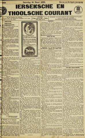 Ierseksche en Thoolsche Courant 1922-03-18