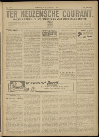 Ter Neuzensche Courant. Algemeen Nieuws- en Advertentieblad voor Zeeuwsch-Vlaanderen / Neuzensche Courant ... (idem) / (Algemeen) nieuws en advertentieblad voor Zeeuwsch-Vlaanderen 1931-01-26