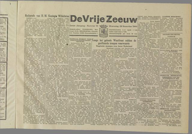 de Vrije Zeeuw 1944-11-29