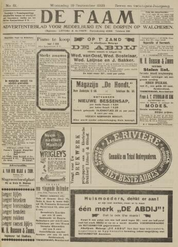 de Faam en de Faam/de Vlissinger 1923-09-19