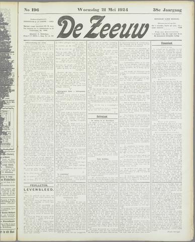 De Zeeuw. Christelijk-historisch nieuwsblad voor Zeeland 1924-05-21