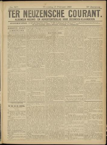 Ter Neuzensche Courant. Algemeen Nieuws- en Advertentieblad voor Zeeuwsch-Vlaanderen / Neuzensche Courant ... (idem) / (Algemeen) nieuws en advertentieblad voor Zeeuwsch-Vlaanderen 1926-02-17
