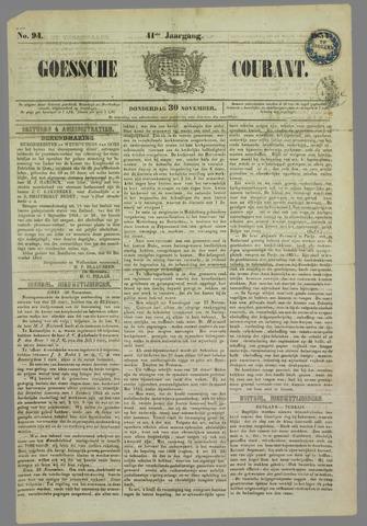 Goessche Courant 1854-11-30