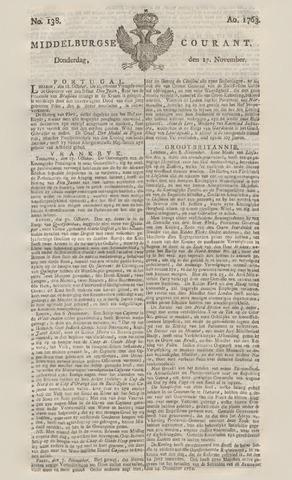Middelburgsche Courant 1763-11-17