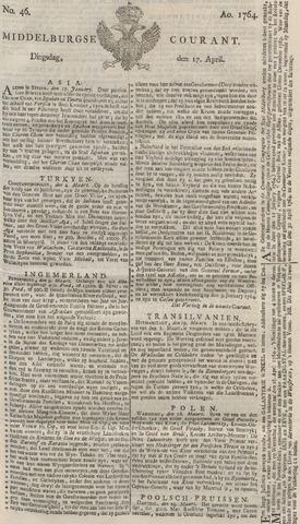 Middelburgsche Courant 1764-04-17