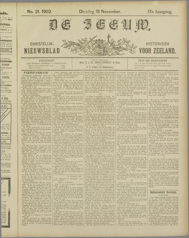 De Zeeuw. Christelijk-historisch nieuwsblad voor Zeeland 1902-11-18
