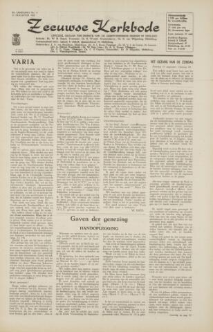Zeeuwsche kerkbode, weekblad gewijd aan de belangen der gereformeerde kerken/ Zeeuwsch kerkblad 1965-08-13