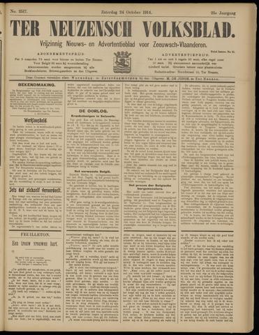Ter Neuzensch Volksblad. Vrijzinnig nieuws- en advertentieblad voor Zeeuwsch- Vlaanderen / Zeeuwsch Nieuwsblad. Nieuws- en advertentieblad voor Zeeland 1914-10-24