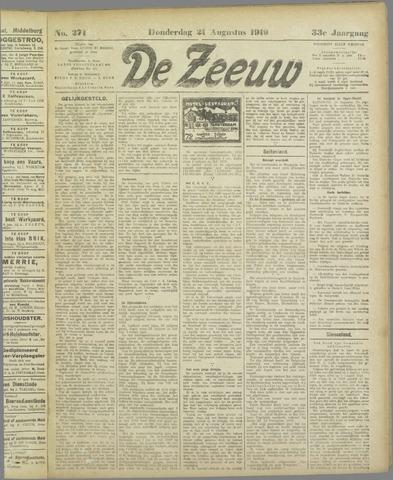 De Zeeuw. Christelijk-historisch nieuwsblad voor Zeeland 1919-08-21