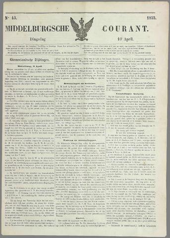Middelburgsche Courant 1855-04-10