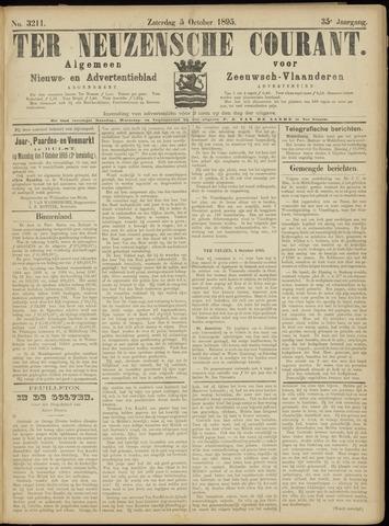 Ter Neuzensche Courant. Algemeen Nieuws- en Advertentieblad voor Zeeuwsch-Vlaanderen / Neuzensche Courant ... (idem) / (Algemeen) nieuws en advertentieblad voor Zeeuwsch-Vlaanderen 1895-10-05