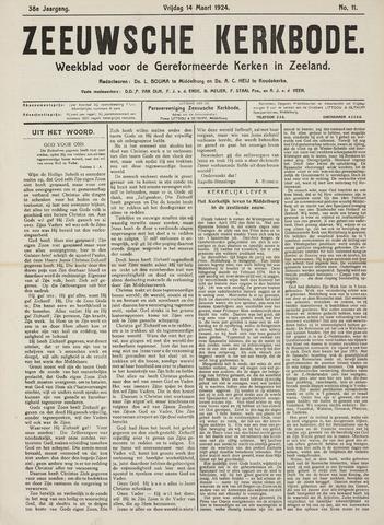 Zeeuwsche kerkbode, weekblad gewijd aan de belangen der gereformeerde kerken/ Zeeuwsch kerkblad 1924-03-14