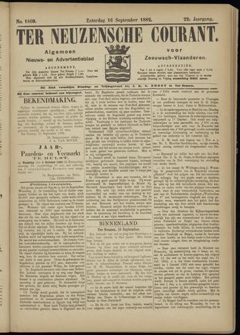 Ter Neuzensche Courant. Algemeen Nieuws- en Advertentieblad voor Zeeuwsch-Vlaanderen / Neuzensche Courant ... (idem) / (Algemeen) nieuws en advertentieblad voor Zeeuwsch-Vlaanderen 1882-09-16
