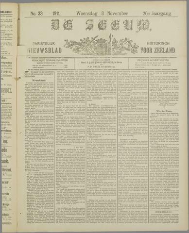 De Zeeuw. Christelijk-historisch nieuwsblad voor Zeeland 1911-11-08