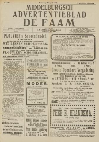 de Faam en de Faam/de Vlissinger 1915-04-21